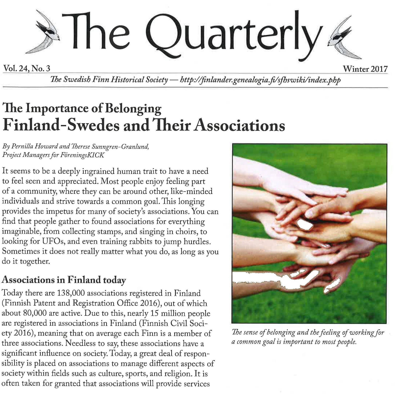 Artikel i the Quarterly 2017